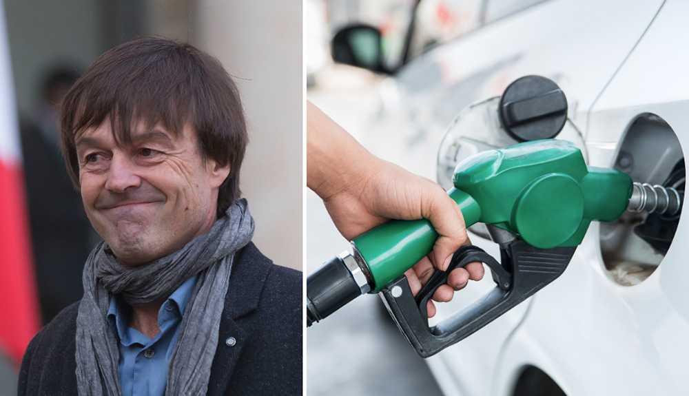 Frankrikes miljöminister vill förbjuda bensin och diesel.