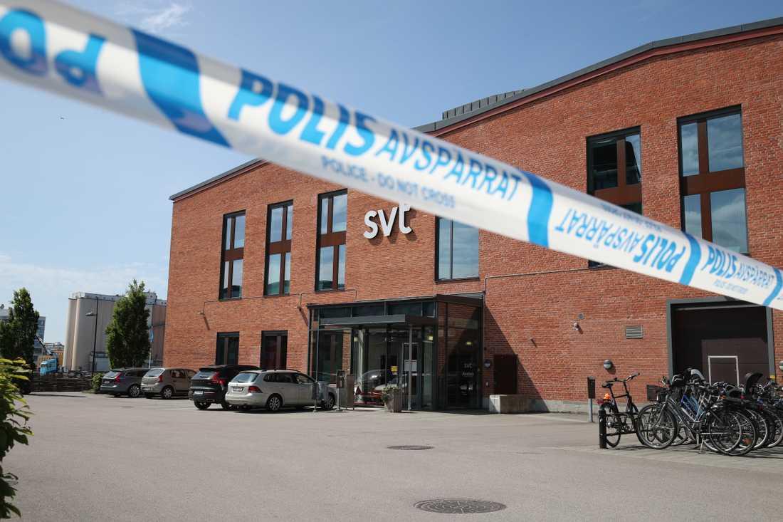 Ett misstänkt föremål har hittats på SVT:s redaktion i Malmö.