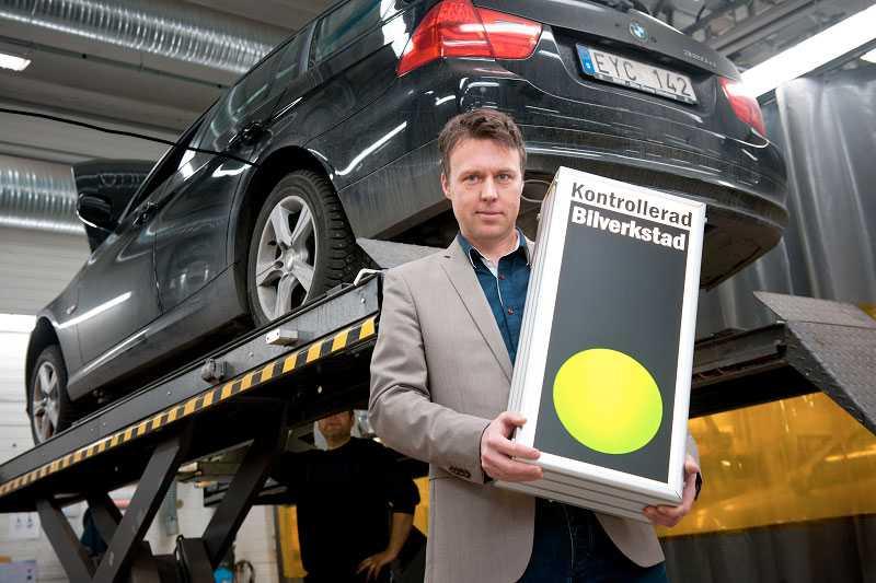 Thomas Engström, vd för Kontrollerad Bilverkstad