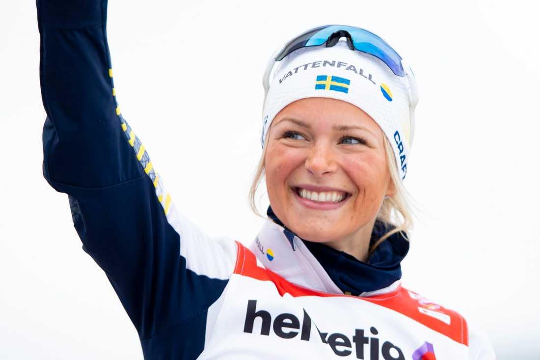 """""""Det har alltid varit en dröm"""", säger Frida Karlsson om att köra Tour de Ski nästa säsong. Arkivbild."""