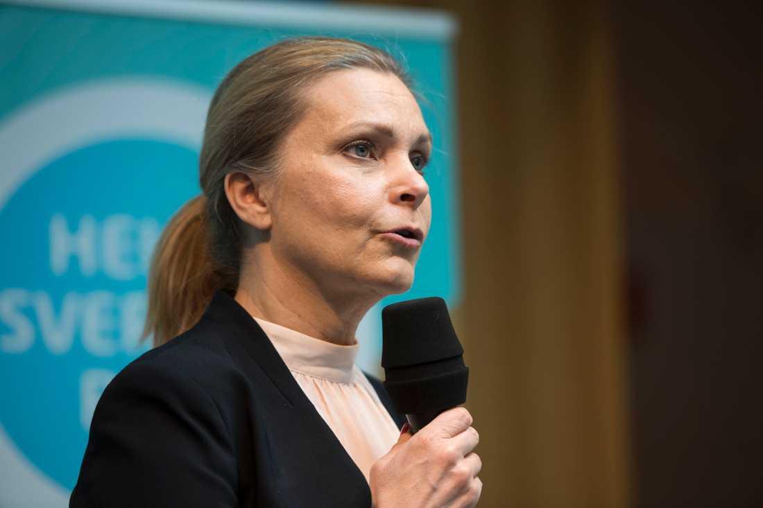 Polisförbundets ordförande Lena Nitz. Arkivbild.