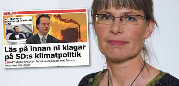 MP:s Stina Bergström svarar Martin Kinnunen, SD.