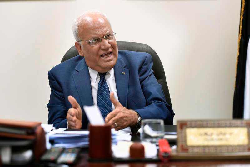 Saeb Erekat har suttit i krismöte med palestinska ledningen.