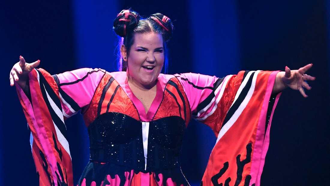 Netta Barzilai i Eurovisionfinalen 2018.
