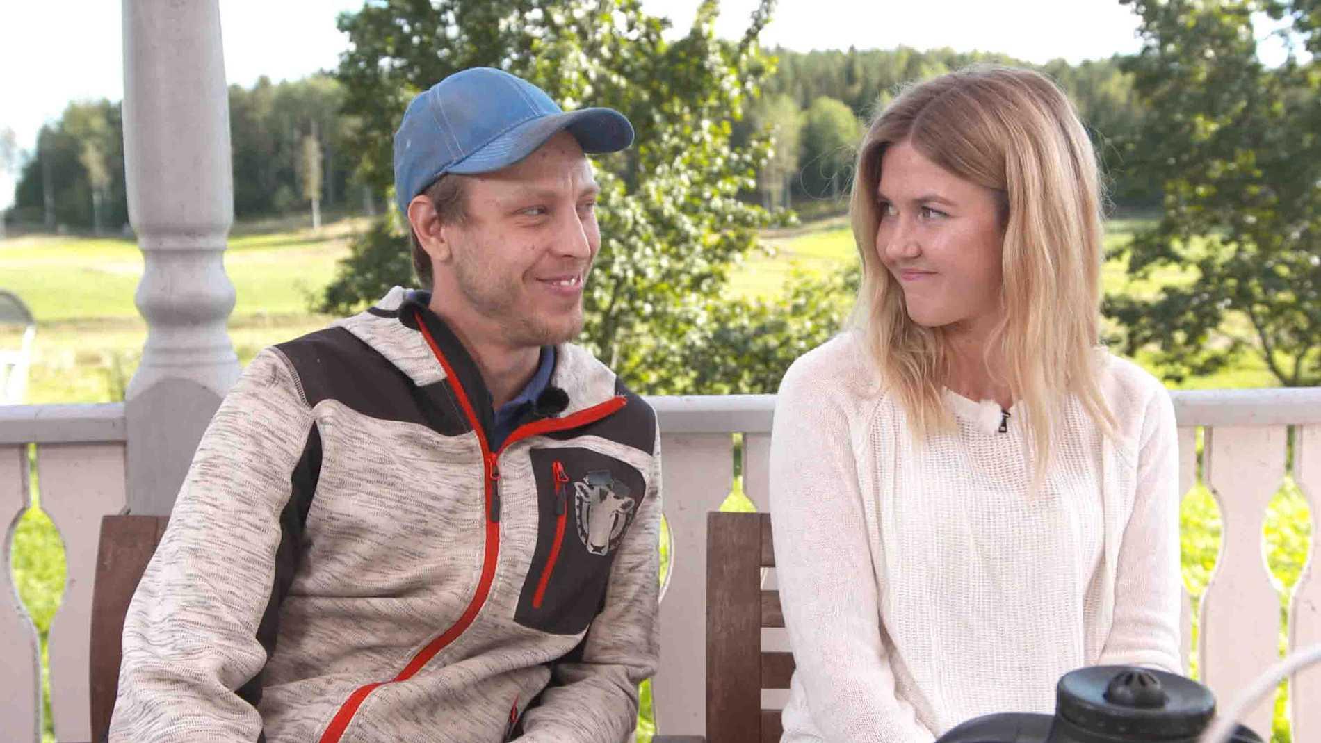 """Pelle och Karin i """"Bonde söker fru""""."""