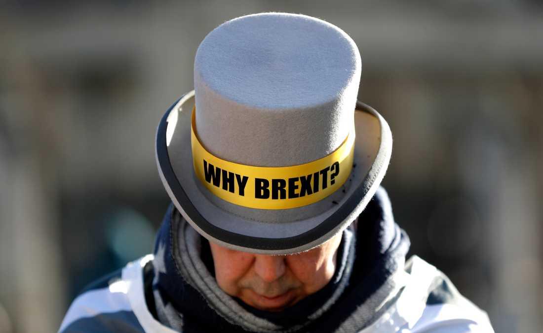 Brexitmotståndaren Steve Bray har nästan dagligen demonstrerat utanför parlamentet i London mot beslutet att lämna EU.