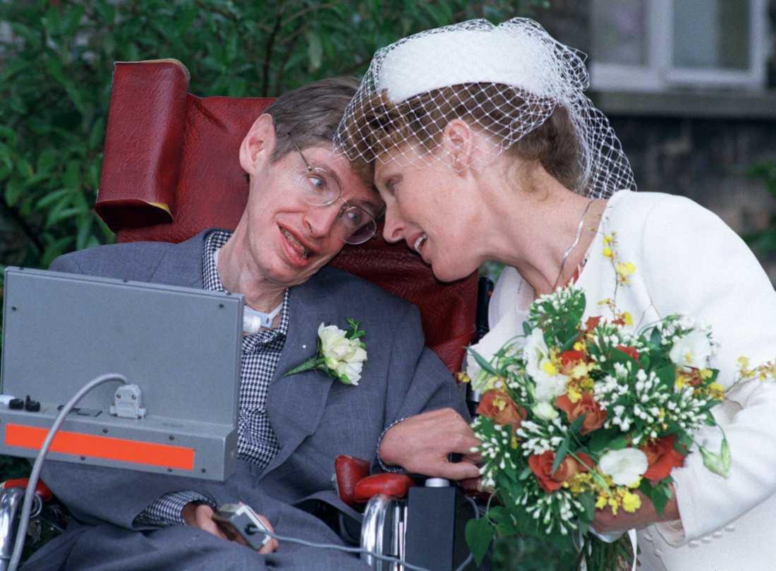 1995 gifte sig Stephen Hawking med sin sjuksköterska Elaine Mason.