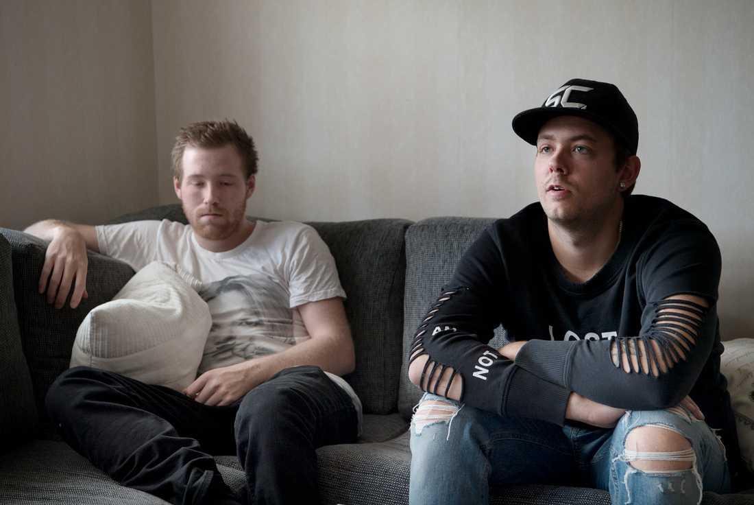 Bröderna Christian Karlsson och Robin Dahlén.