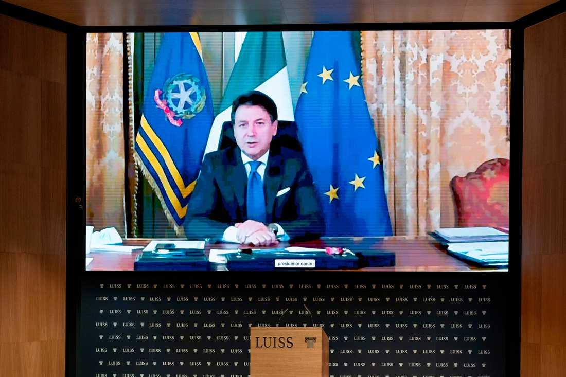 Italiens premiärminister Giuseppe Conte. Arkivbild.