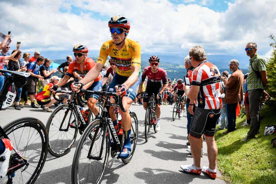Rohan Dennis var försvunnen under en timmes tid efter att ha brutit den tolfte etappen av Tour de France. Arkivbild.
