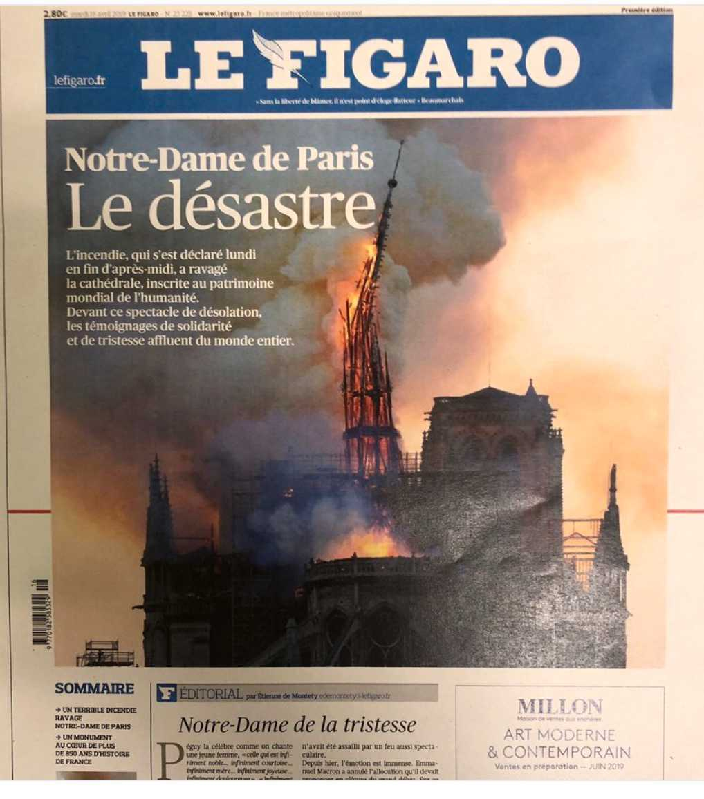 Franska tidningen Le Figaro.
