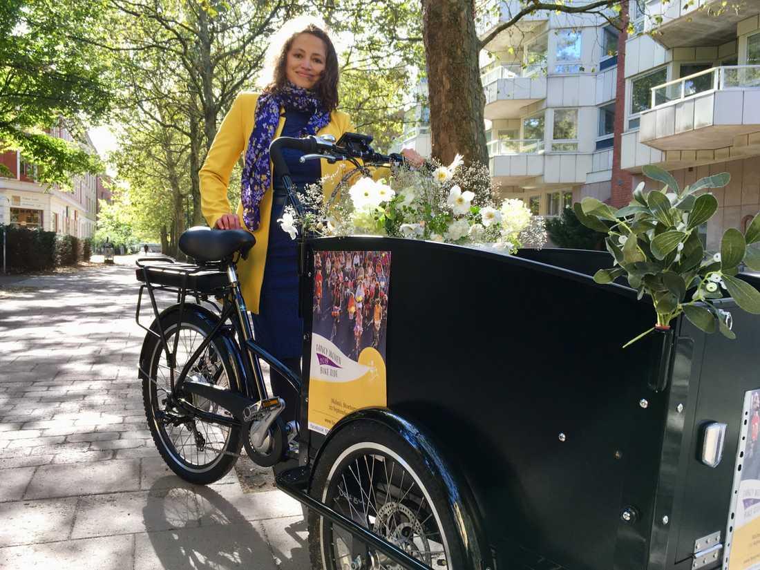 Vasvie Issa vill uppmuntra fler att cykla och göra det till en del av det dagliga livet.