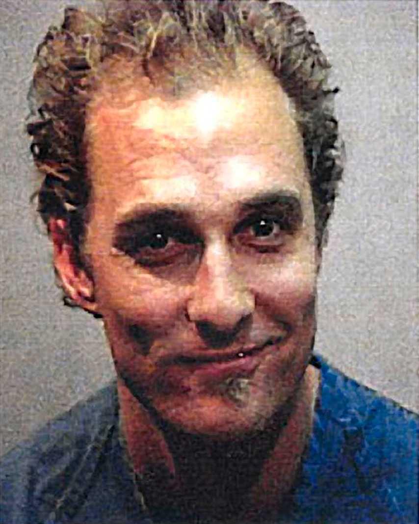 1999 kallades polis hem till Matthew McConaughey, i dag 42, i Texas då grannarna stört sig på att han spelat hög musik. Han fick betala 350 kronor i böter för att ha fört oväsen.