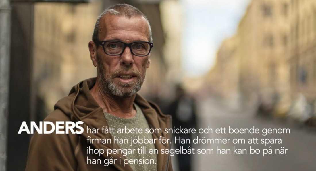 """SVT:s serie """"36 dagar på gatan"""" slutar med Anders dröm om att spara ihop till en segelbåt. Nu har han fått en segelbåt av en familj i Skåne."""