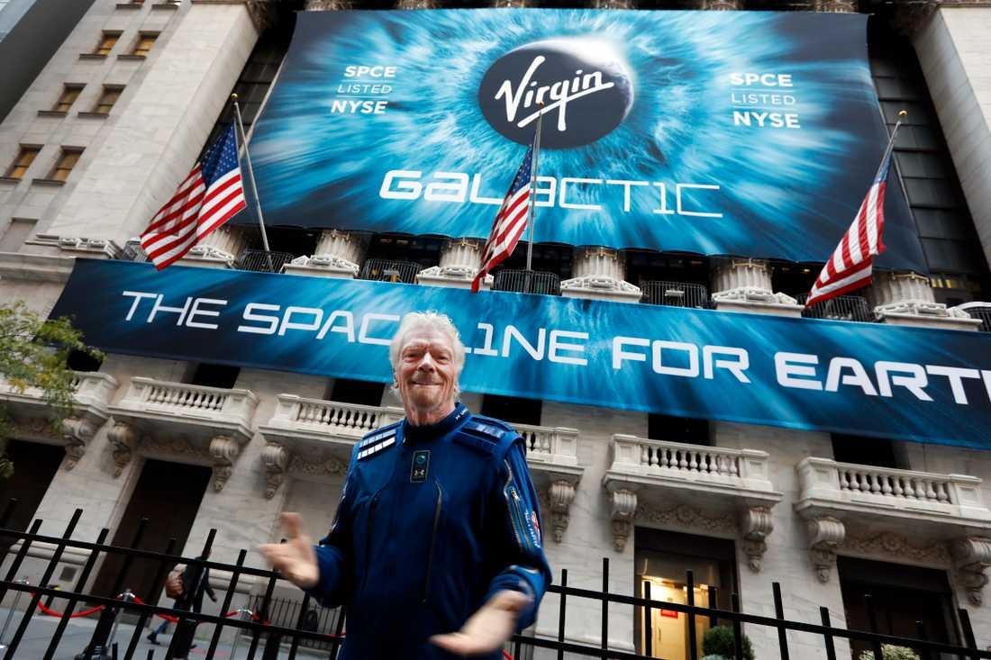Richard Branson vill vara först med att arrangera rymdresor för turister.