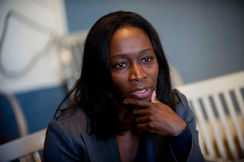 """Nyamko Sabuni, Liberalernas partiledare, tycker inte att Morgan Johansson har gjort fel. """"Han kanske har gjort för lite, men inte fel""""."""