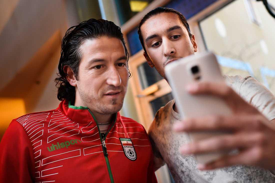 Selfie med tolken.