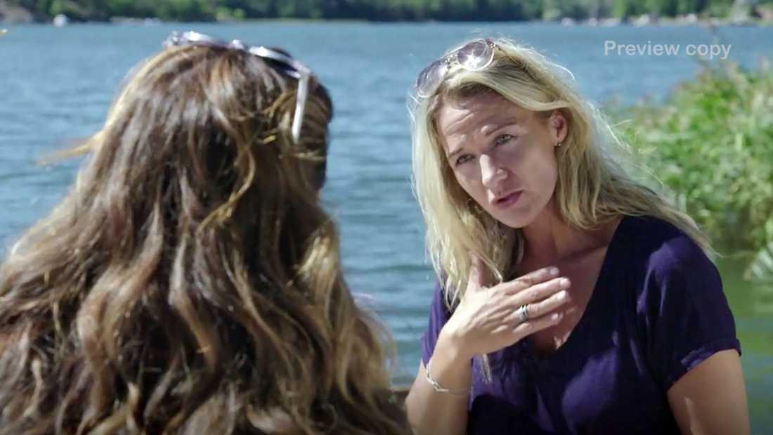 Kristin Kaspersen berättar om Lill-Babs sista dagar för Renée Nyberg.