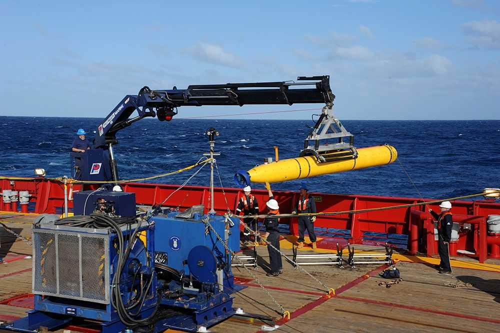 Bluefin Den obemannade undervattensfarkosten söker av havsbotten i jakten på MH370.
