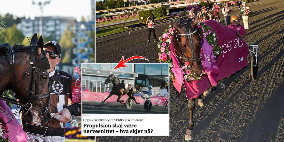Söndagens Elitloppsvinnare Propulsion uppges i norsk media vara nervsnittad, med hänvisning till kanadensiska travförbundets hemsida.