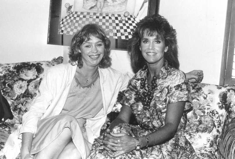 Jane Fonda tillsammans med Stina Dabrowski då det begav sig.