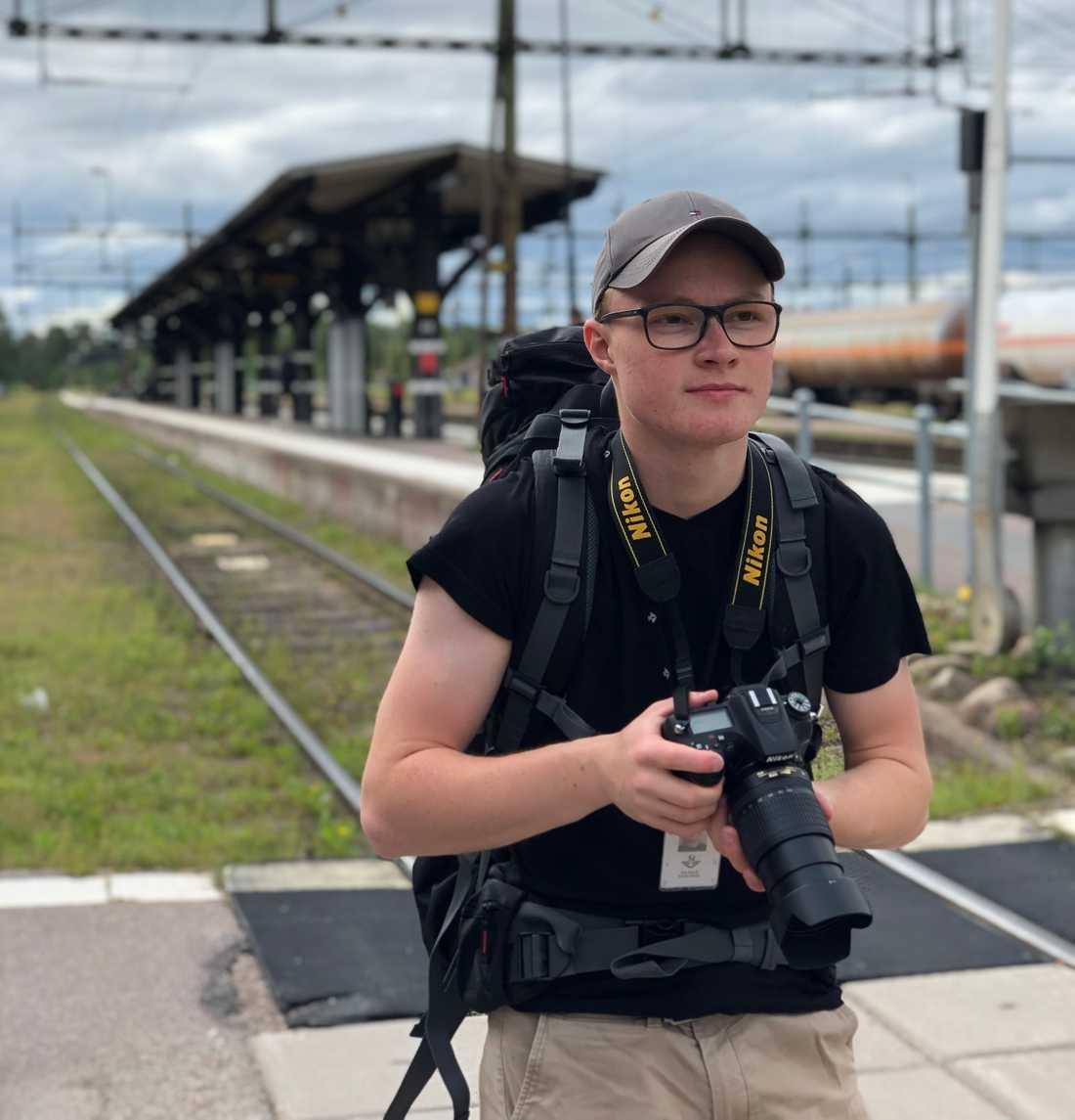 Wilhelm Karlsson tycker om att fotografera.