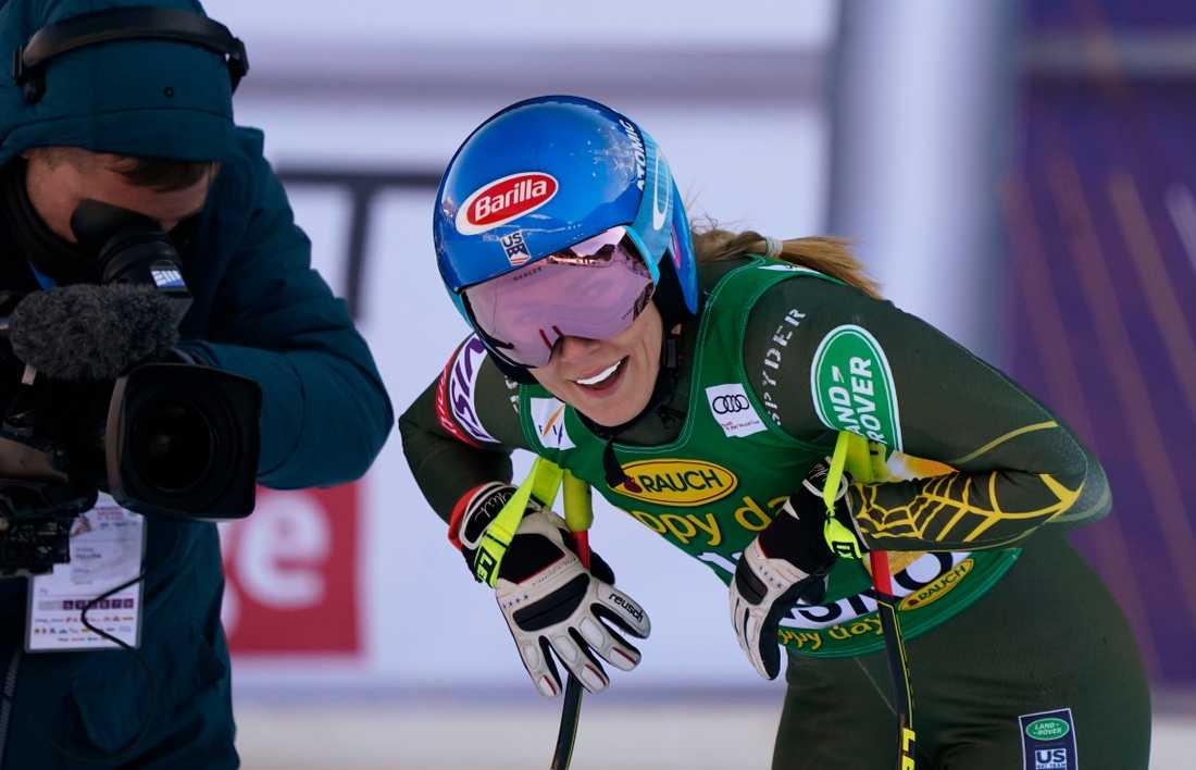 Mikaela Shiffrin var nöjd med sitt åk i Bansko, som visade sig räcka till segern i störtlopp.