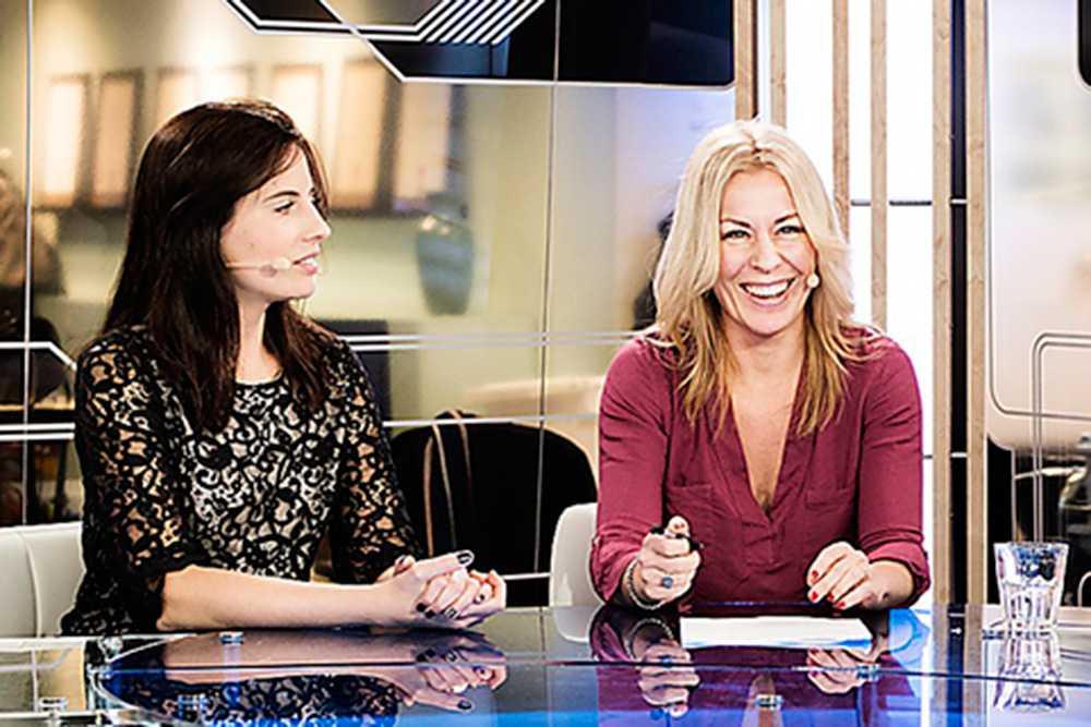 Maria Bjaring får ett skrattanfall med Kazmierska.
