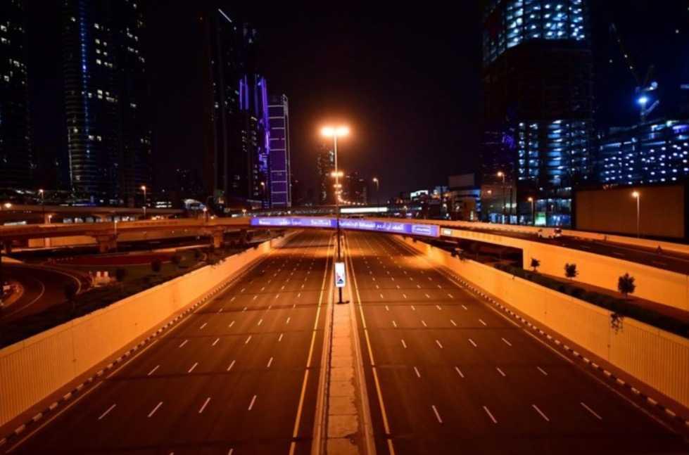Tom motorväg i Dubai, Förenade arabemiraten.