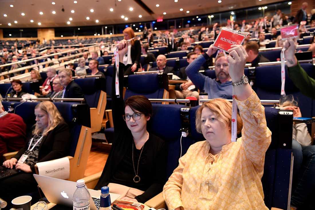 S-kongress i Göteborg. Votering om tiggeriet.