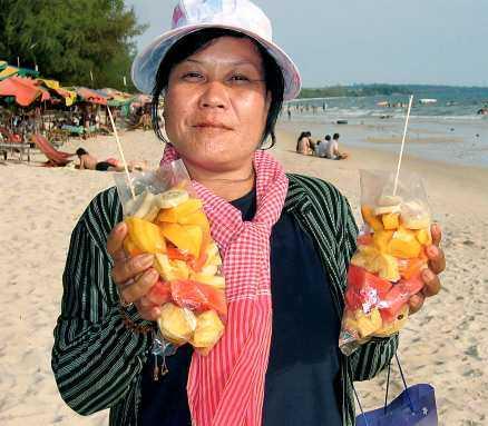Sokha, 44, fruktförsäljare