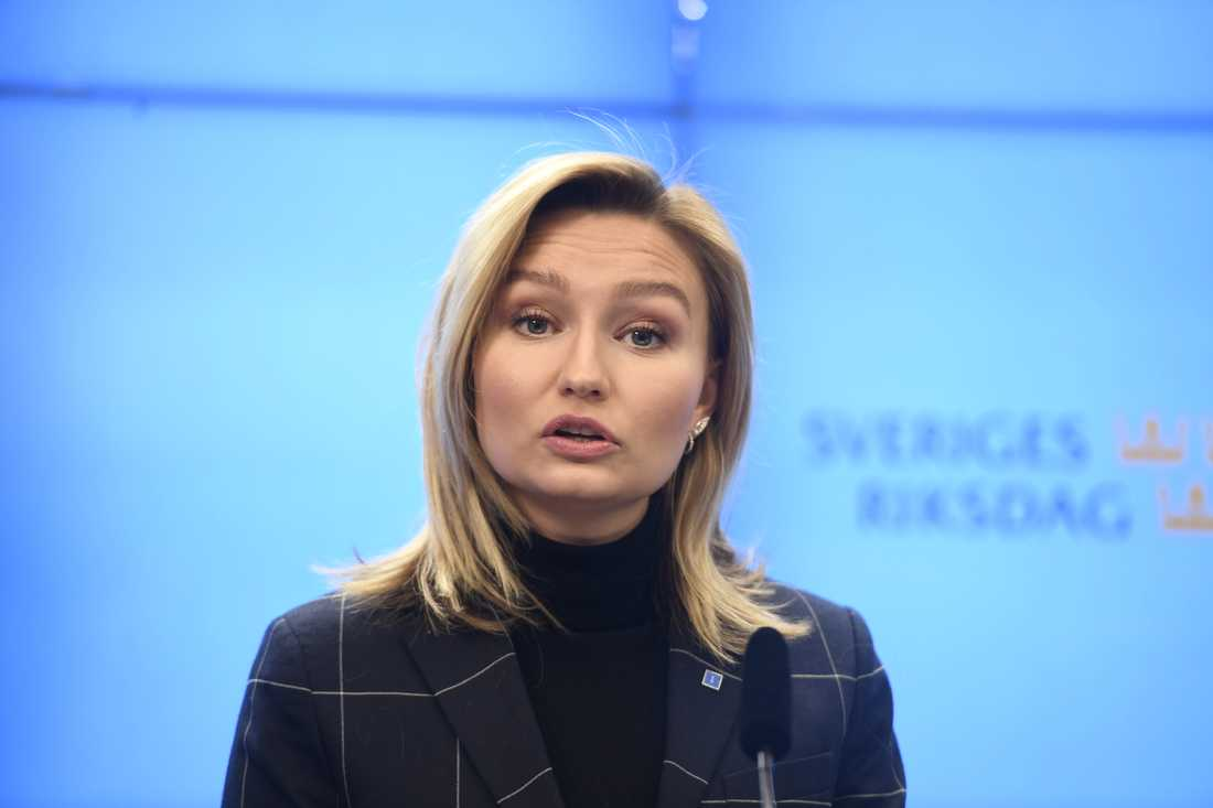 KD-ledaren Ebba Busch Thor (KD) vill att en statlig dagpenning ersätter försörjningsstödet för arbetslösa.