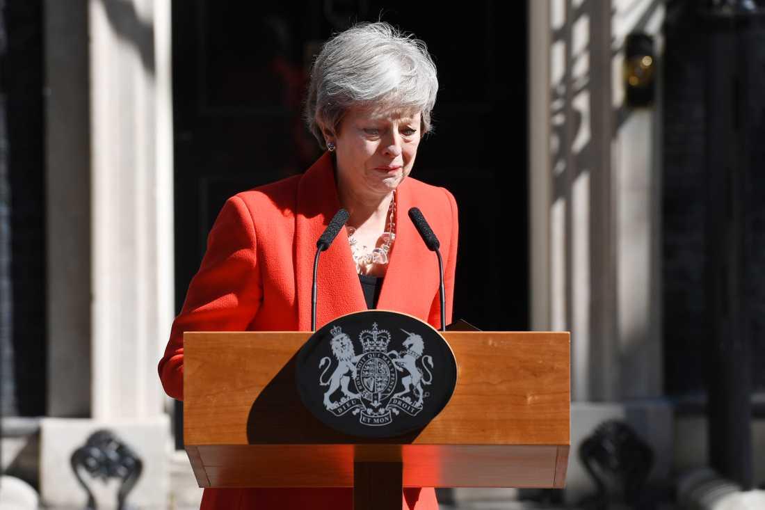 Theresa May kommer att lämna posten som partiledare den 7 juni.