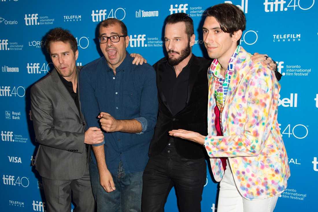 """Max Landis på en presskonferesen av filmen """"Mr.Right"""""""