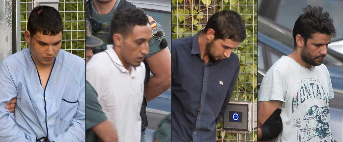 Mohamed Houli Chemlal, Driss Oukabir, Salah El Karib, och Mohamed Aallaa hördes i domstol. Aallaa släpptes men misstankarna kvarstår. Chemlal överlevde explosionen i huset då han satt utanför på verandan. Han är nu polisens huvudvittne.