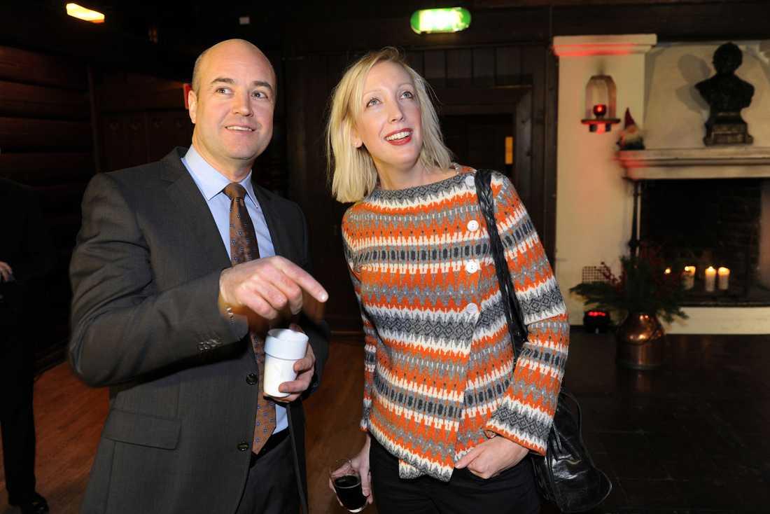 Statsminister Fredrik Reinfeldt och Sofia Arkelsten i december 2011.