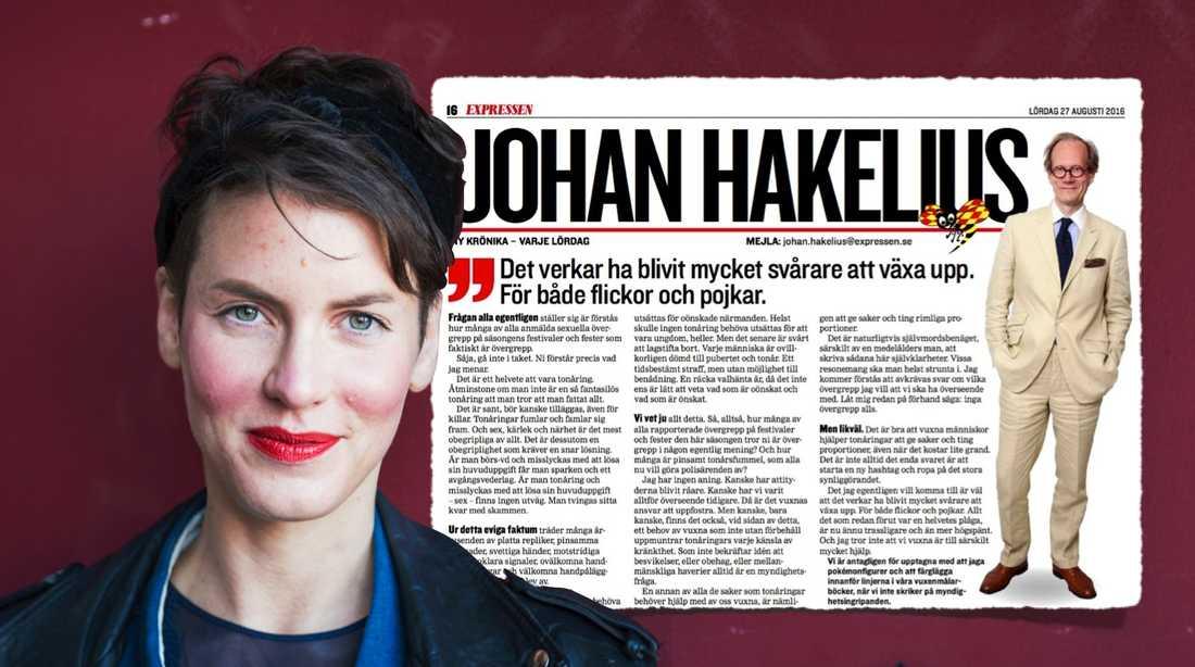 Jag trodde verkligen jag hade läst allt om sexuella ofredanden på festival. Tills Johan Hakelius inte kunde motstå att skriva en krönika om ofredanden på festival, skriver kriminolog Nina Rung.