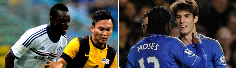 Bertrand Traore (till vänster) och Lucas Piazon är två av Chelseas spelare som just nu är utlånade till Vitesse.