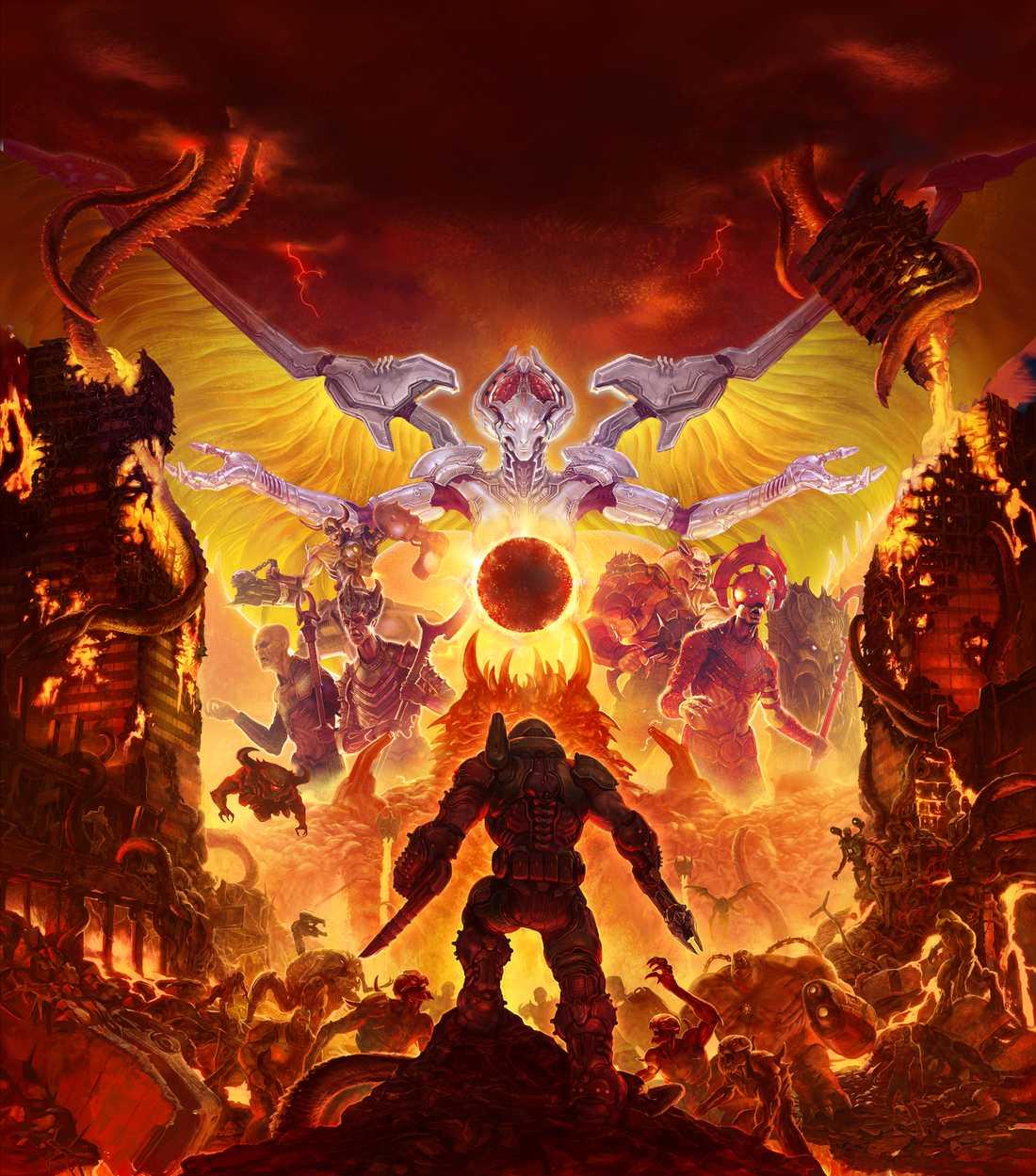 """För den som är intresserad finns en omfattande bakgrundsberättelse i """"Doom eternal"""". Men det går också alldeles utmärkt att helt strunta i den. Pressbild."""