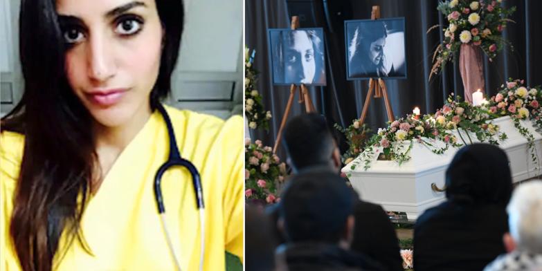 Karolin Hakim/begravningen i Malmö.