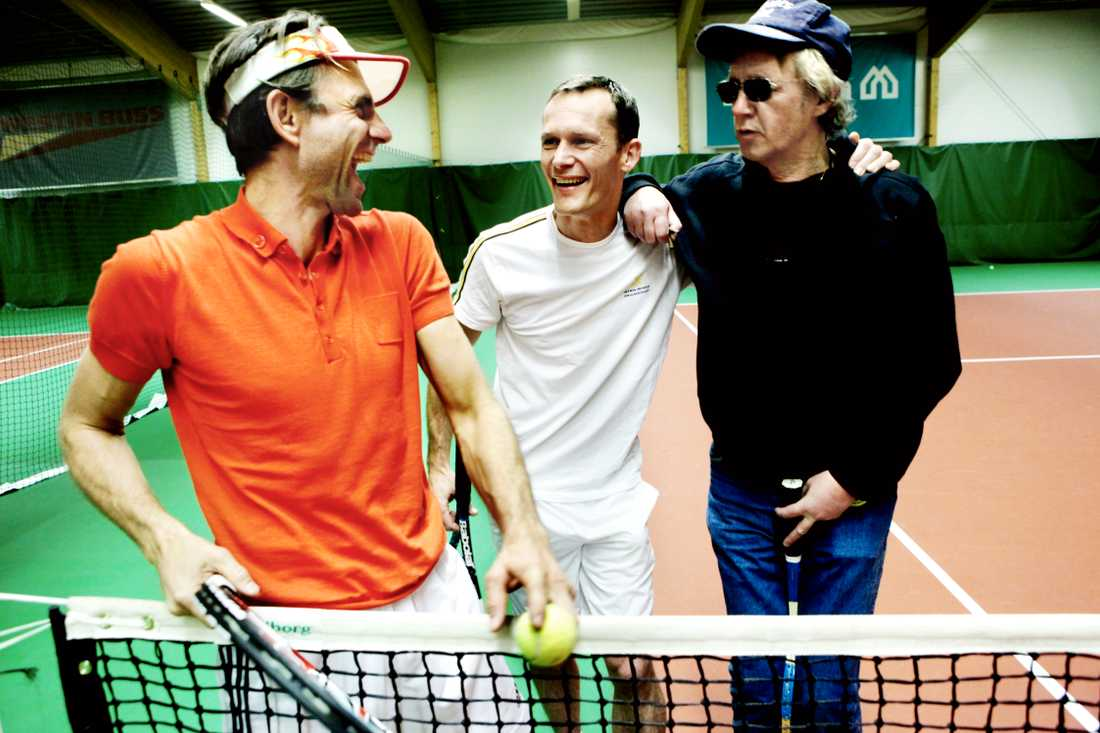 """Svante Grundberg medverkade även i """"Smash"""", här med Peter Wahlbeck och Måns Herngren."""