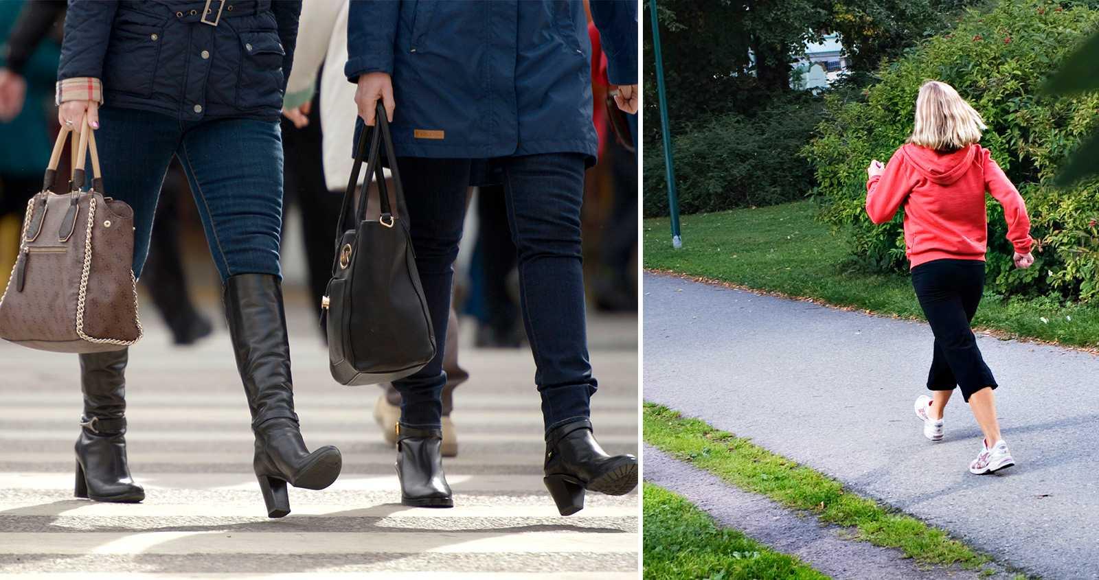Studie: De som går i rask takt kan leva 15 år längre – oavsett vikt