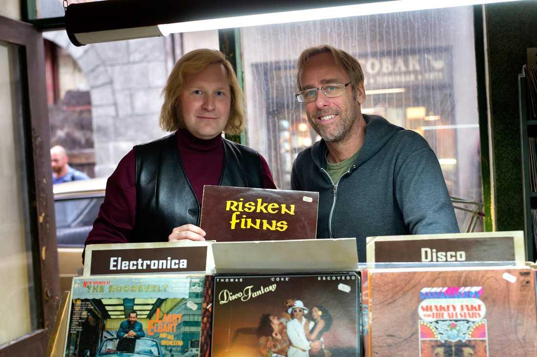 Ulf Malmros tillsammans med filmskådespelaren Henrik Dorsin.