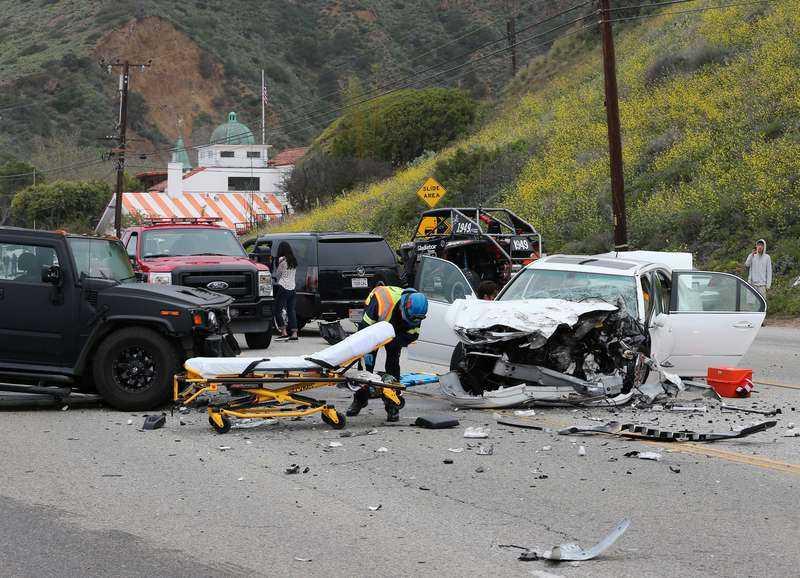 Bruce Jenners bil var en av tre i bilolyckan på Malibu Road.