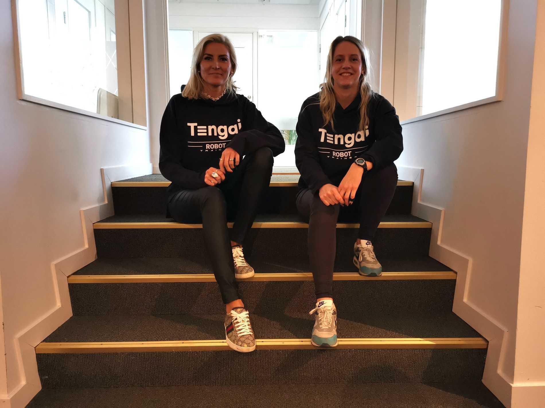 Elin Öberg Mårtenzon och Vanja Tufvesson inne på Tengais kontor i Malmö.