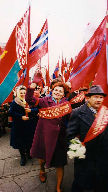 """Boris Mikhailov, från bildserien """"Red"""", 1968–1975."""