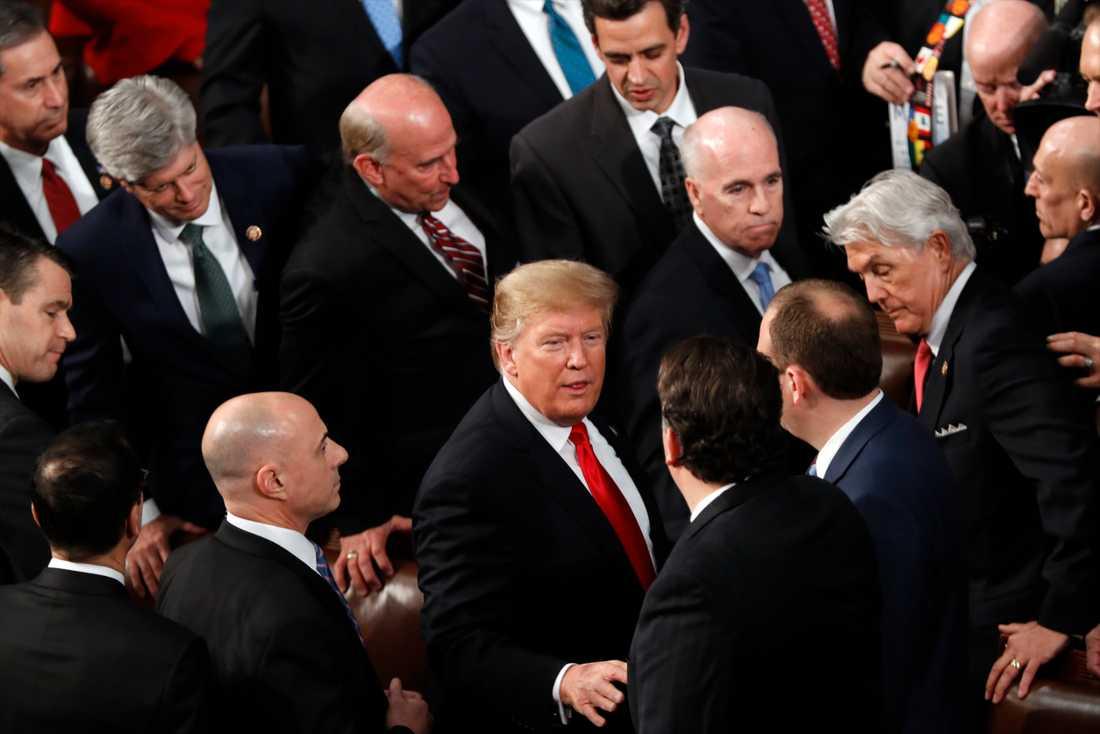 Donald Trump höll sitt State of the union-tal i natt svensk tid.