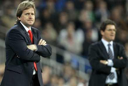 Den nye (?) och gamle Real Madrid-tränaren, Bernd Schuster och Fabio Capello.