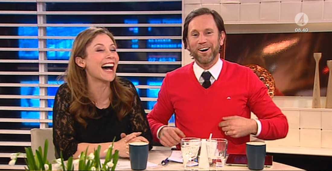 Tilde de Paula och Peter Jihde skrattade gott.