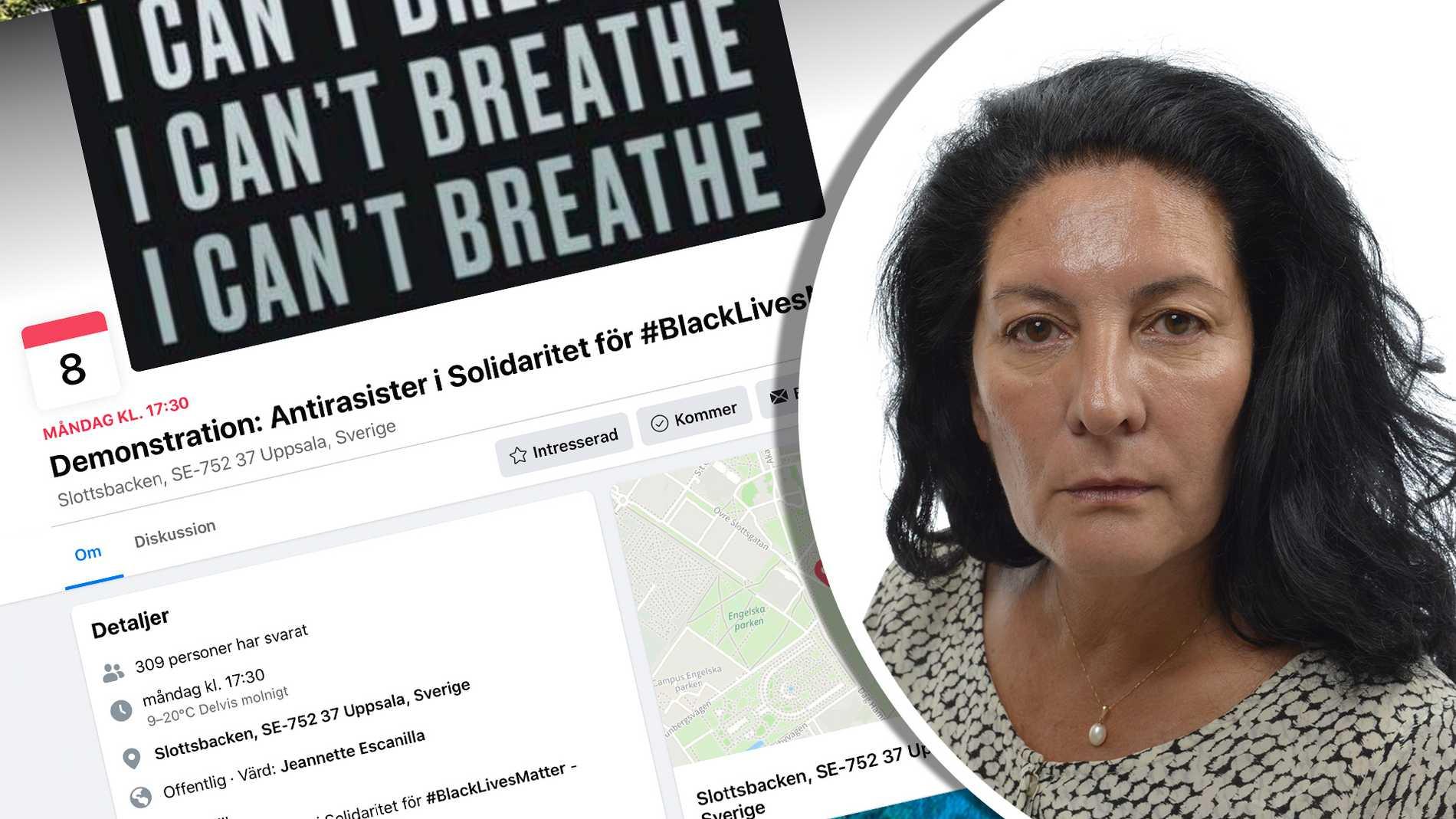 Black lives matter i Uppsala – experten rasande